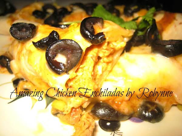 Amazing Chicken Enchiladas~robynne Recipe