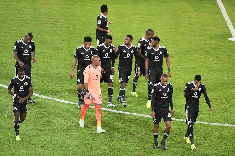 Orlando Pirates during their match against Enyimba at Orlando Stadium on March 17 2021.