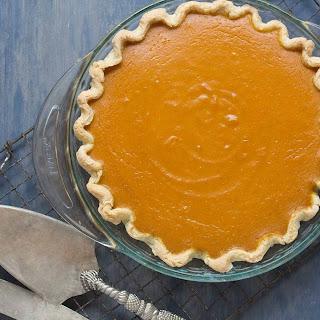 Maple Pumpkin Pie with Fresh Lemon & Ginger- Low FODMAP Recipe