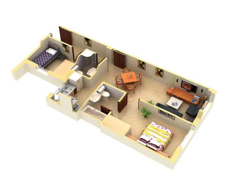 house floor plans 3 bedroom 2 bath 3d. 3d modular home floor plan screenshot house plans 3 bedroom 2 bath 3d