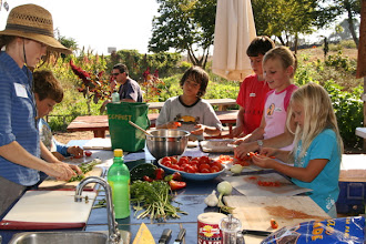 Photo: Cooking in the Garden Kitchen