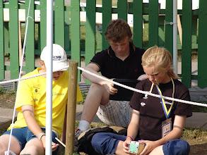 Photo: Crew Elisabeth Brandt, Anders Brandt and Carolina Larsson.  Photo: Annelie Larsson
