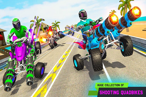 ATV Quad Bike Racing Simulator: Bike Shooting Game Apk 2