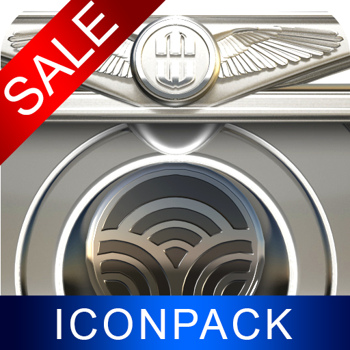 Silver Gear HD Icon Pack