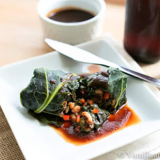 BBQ Black Eyed Pea Collard Rolls