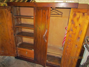 Photo: Wardrobe, shelves and lockable bottom drawer