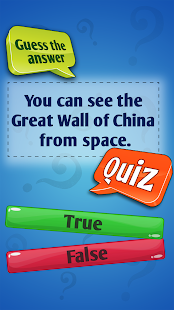 True Or False Fun General Knowledge Quiz Game App - náhled
