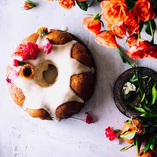 Orange Pound Cake with Orange Icing.