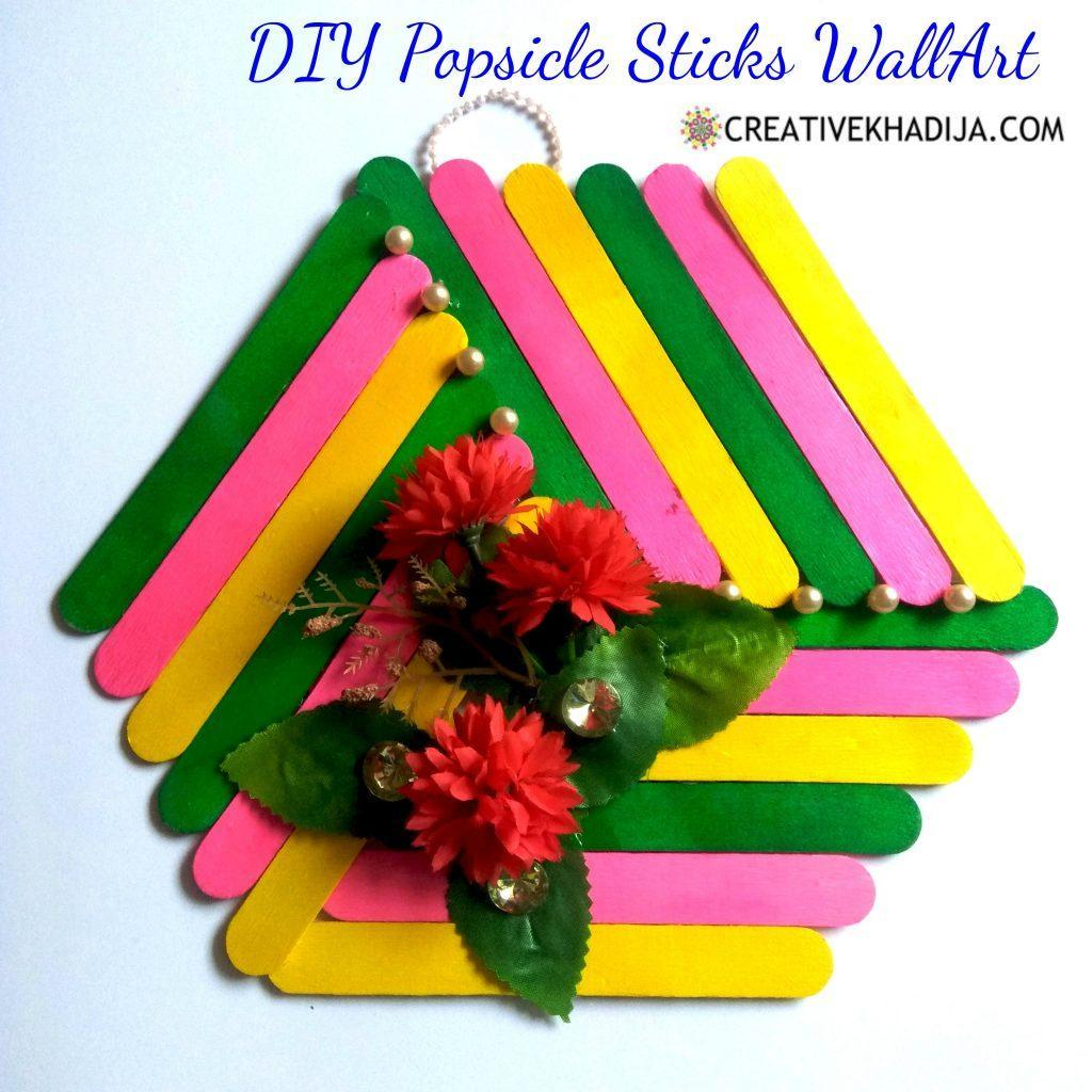 Popsicle Stick Decor For Wall