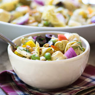 Tortellini Salad with Artichokes and Edamame.