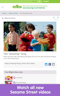 Sesame Street and Autism- screenshot thumbnail