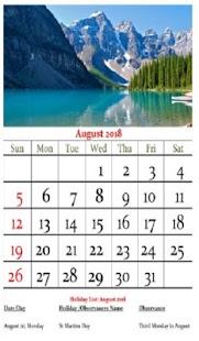 Argentina Calendar 2018 - náhled
