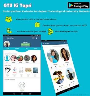 GTUKiTapri - Gujarat Technological Uni Social App - náhled