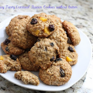 No Butter Chewy Tasty Oatmeal Raisin Cookies