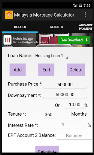 Malaysia's Mortgage Calculator