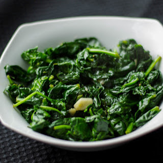 Sauteed Fresh Spinach and Garlic