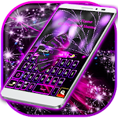 Purple Flame Keyboard Theme