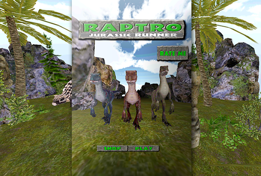 3D Jurassic Raptor Run Land