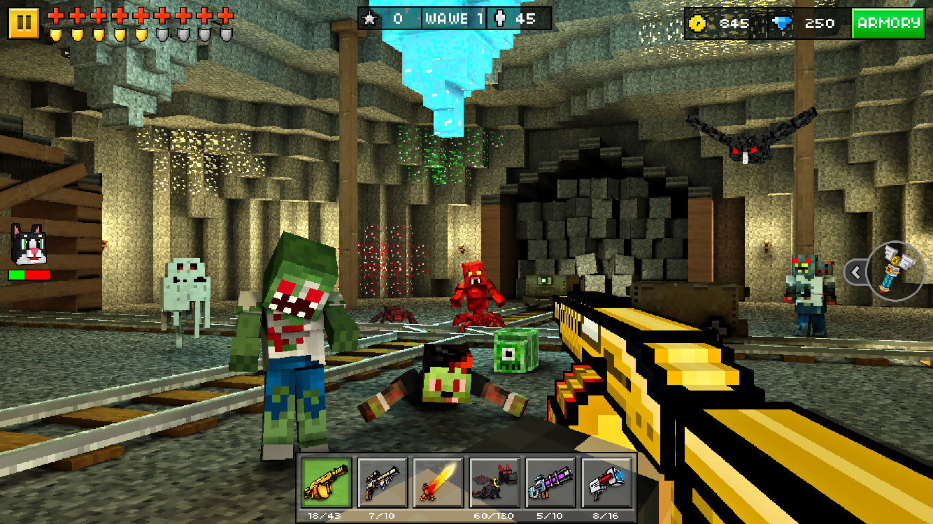 Screenshots of Pixel Gun 3D (Pocket Edition) for iPhone