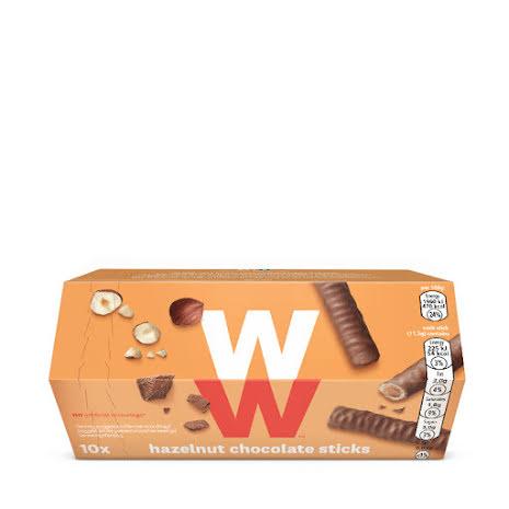 Chokladpinnar med hasselnötssmak, 115g