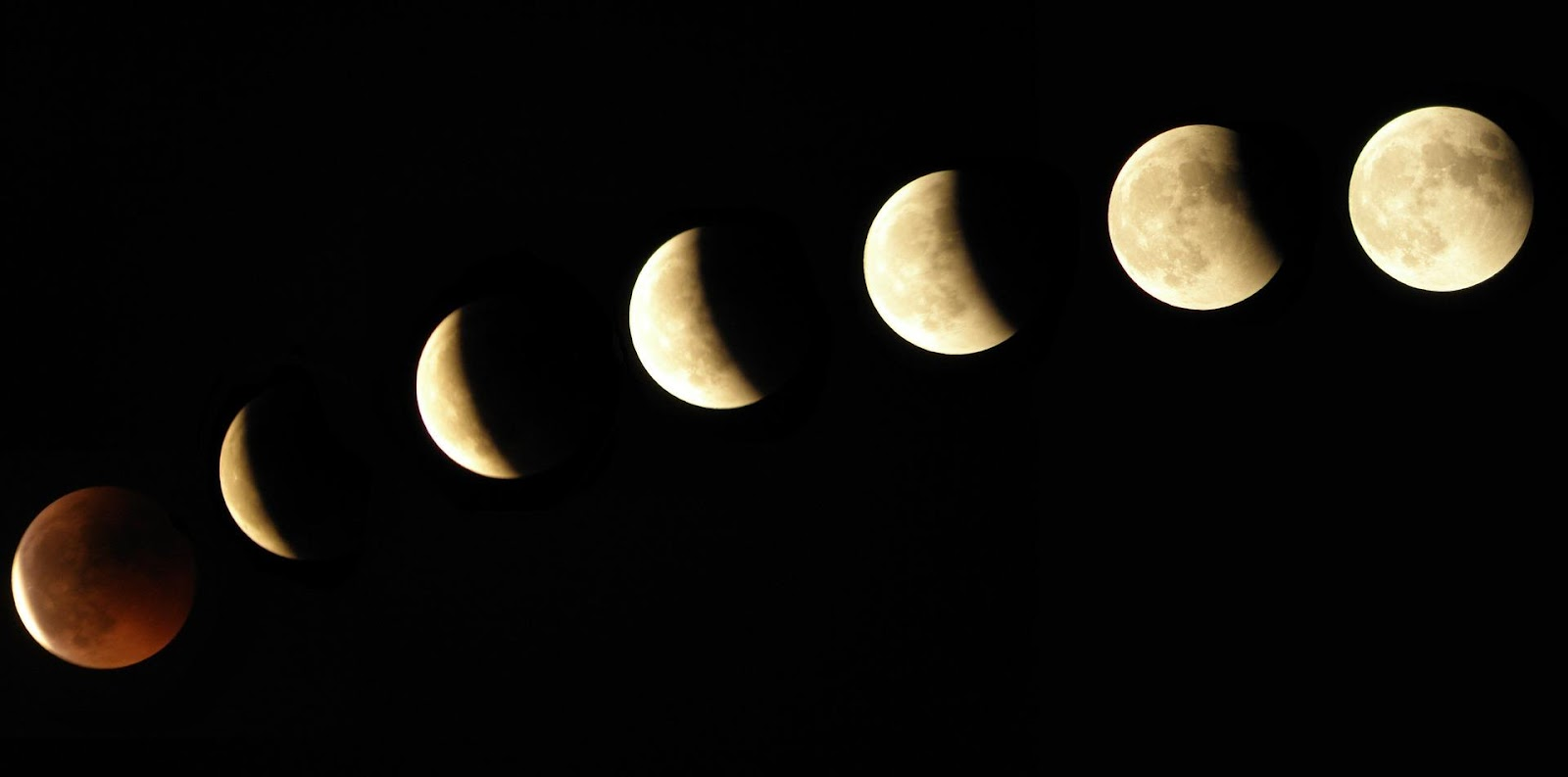 time lapse photo of moon stages