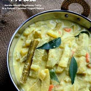 Avial ~ Kerala Mixed Vegetable Curry with Coconut and Yogurt.