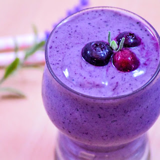 Wild Blueberry & Lavender Smoothie.