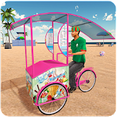 Beach Ice Cream Delivery Boy