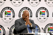 Former president Jacob Zuma continues to give his testimony at the commission of Inquiry into state capture, corruption and fraud in government under his watch. /SANDILE NDLOVU
