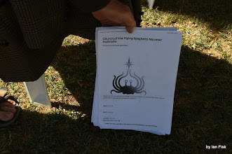 Photo: info on the Church of the Flying Spaghetti Monster Australia see http://pastafarians.org.au/ or