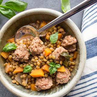Lentils and Sausage Soup Recipe