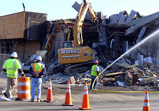 Photo: But it was so much fun to watch pieces of the building come down!