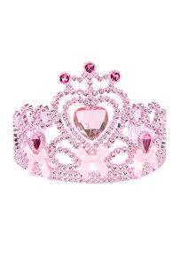 Tiara, rosa med stenar