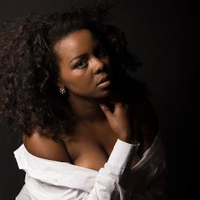 Black is beautiful by Ton Hoelaars - People Portraits of Women ( brazil, model, boudoir, woman, black, portrait )