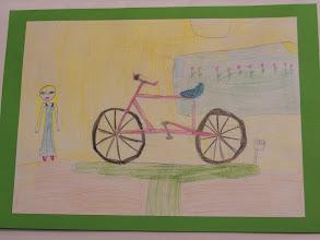 """Photo: praca Justyny """" Jeździmy rowerem bo ... to zdrowie """""""