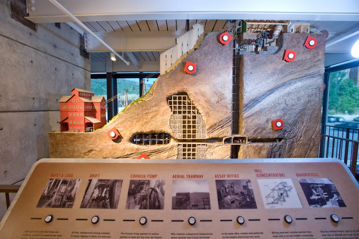 The Mega Mine model. Photo: Park City Museum.