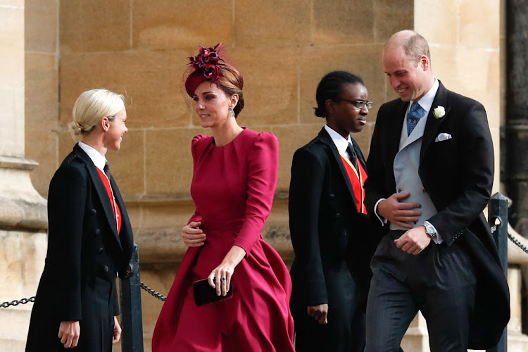 Catherine, Duchess of Cambridge and Prince William, Duke of Cambridge arrive at Windsor Castle.