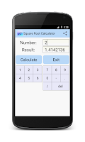 Screenshot of Square Root Calculator