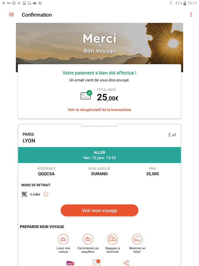 OUI.sncf - Train travel- screenshot