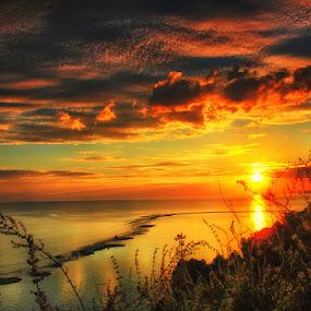 Maurole Sunrise by Marcell Boli - Landscapes Sunsets & Sunrises