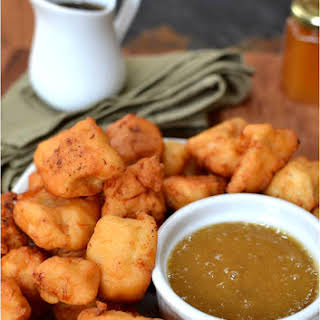 Maple Waffle Chicken Nuggets.