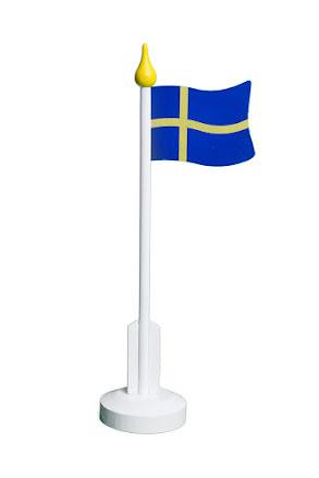 Bordsflagga, Sverige 37 cm