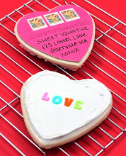 Photo: Valentine's Day cookie postcard