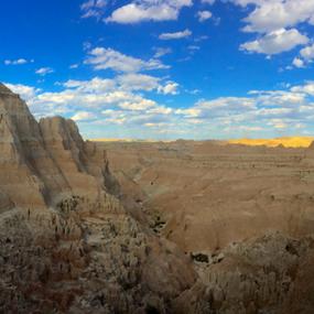 Badlands Pano 1 by J.c. Phelps - Landscapes Mountains & Hills ( desert, cliffs, rocks, badlands, panorama )