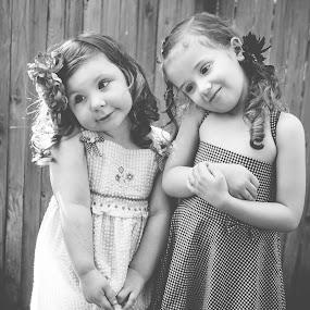 BFFs by Jenny Hammer - Babies & Children Children Candids ( girls, best friends, silly faces, bffs, cute )