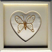 Photo: A finished and mounted piece of goldwork following the workshop with Carole Holme
