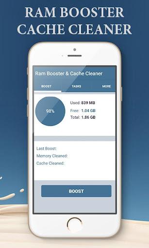 Ram Booster & Cache Cleaner  screenshots 3