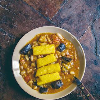 Fagioli All'Uccelletto with Crispy Polenta (Tuscan White Bean Stew) Recipe