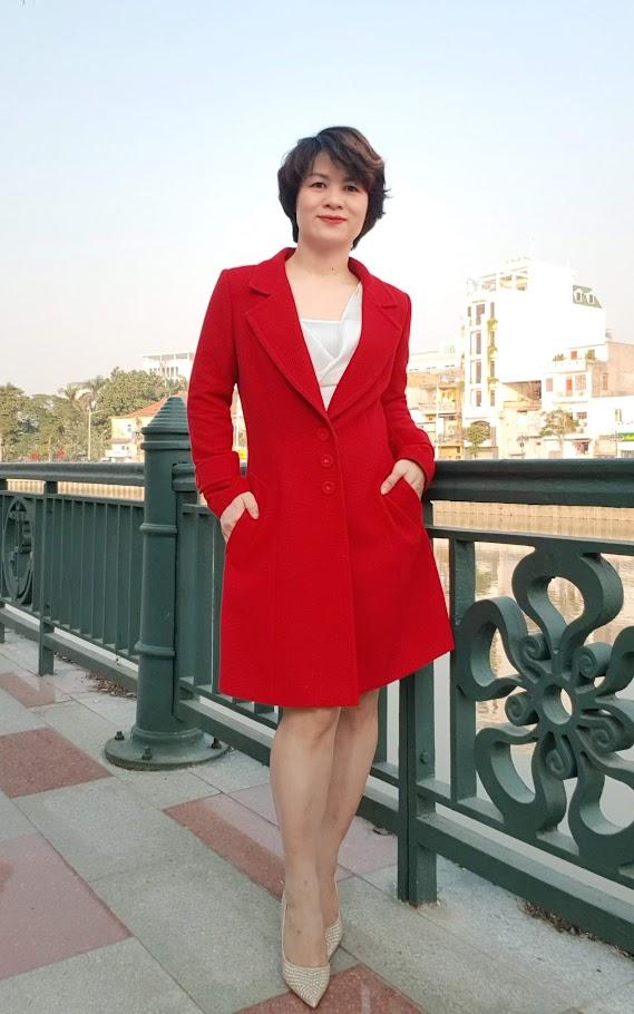 Áo khoác nữ dáng dài thời trang thuỷ đà nẵng