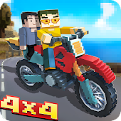 Blocky Moto Bike SIM: Winter Breeze